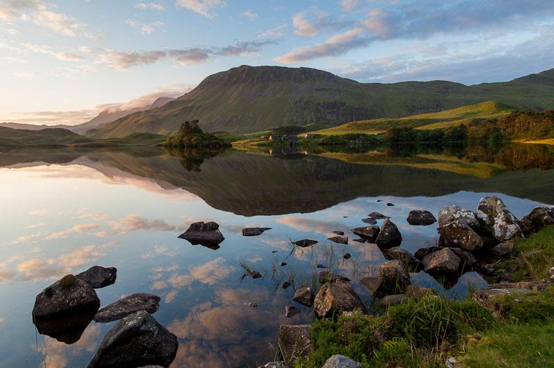Cregennen lake and Cadair Idris