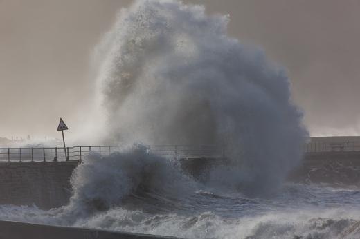 Mountainous seas at Aberystwyth