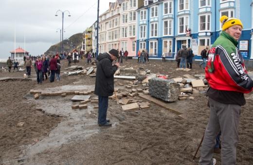 A Saturday afternoon stroll at Aberystwyth