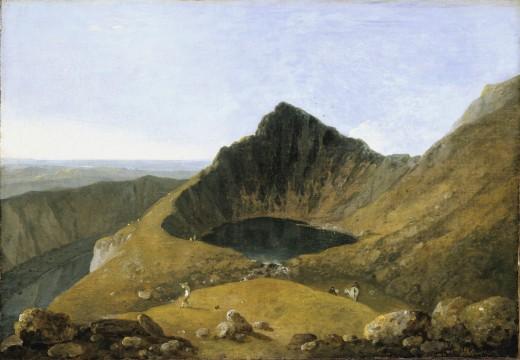 Llyn-y-Cau by Richard Wilson, painted in 1774.
