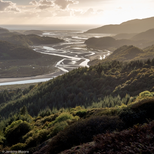 Mawddach estuary from the New Precipice Walk (processed image)