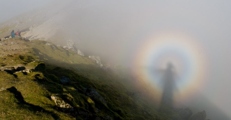 Brocken Spectre, Snowdon summit.