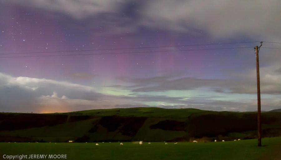 Aurora Borealis, mid-Wales