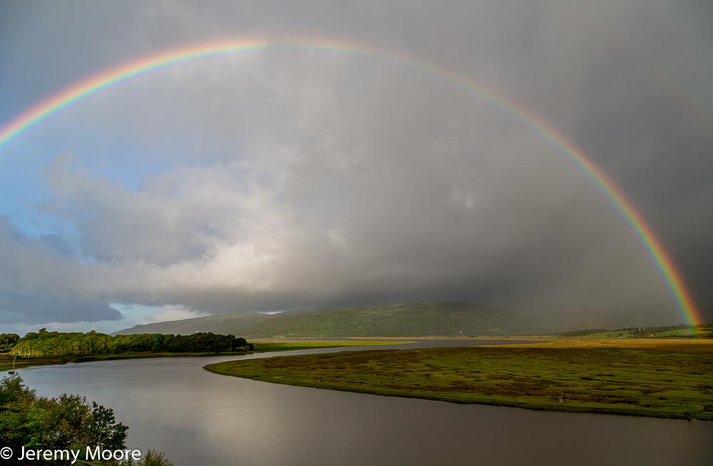Rainbow over the Dyfi estuary